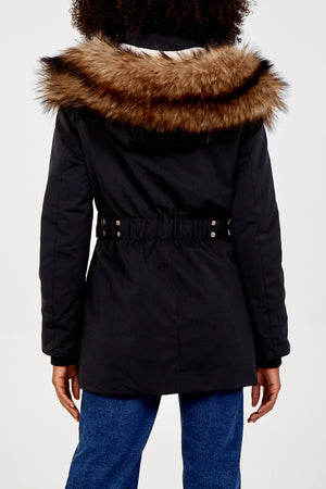 Faux Fur Trimmed Parka