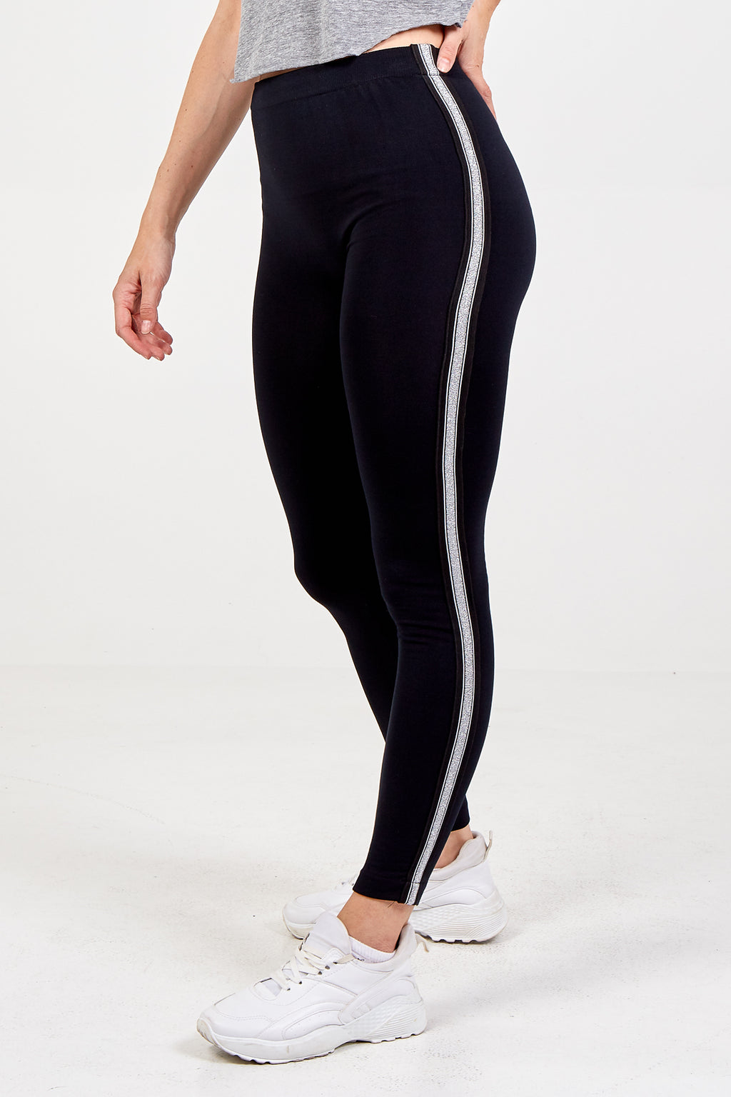 Glitter Stripe Fleece Legging