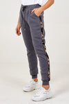 Side Stripe Sequins Jogger