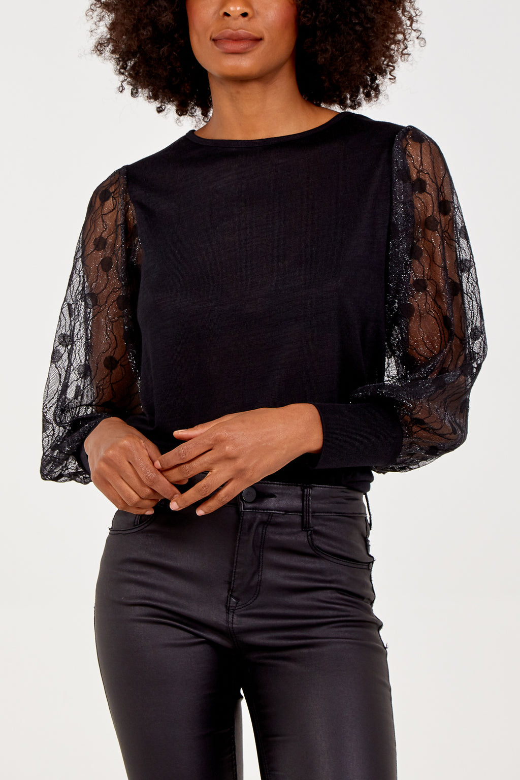 Lace Long Sleeve Tunic