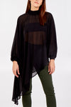 High Low Asymmetric Hem Tunic Top