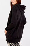 Long Line Basic Patch Pocket Hoodie