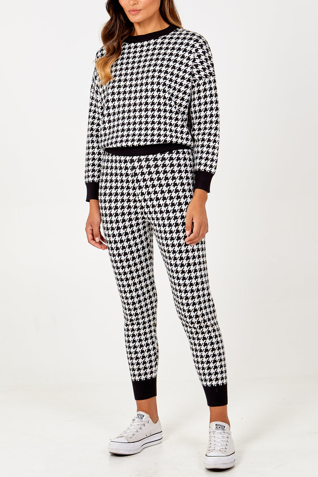 Hounds Tooth Jumper & Jogger Set