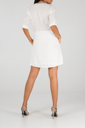 Tunic Dress With A Tie Pull