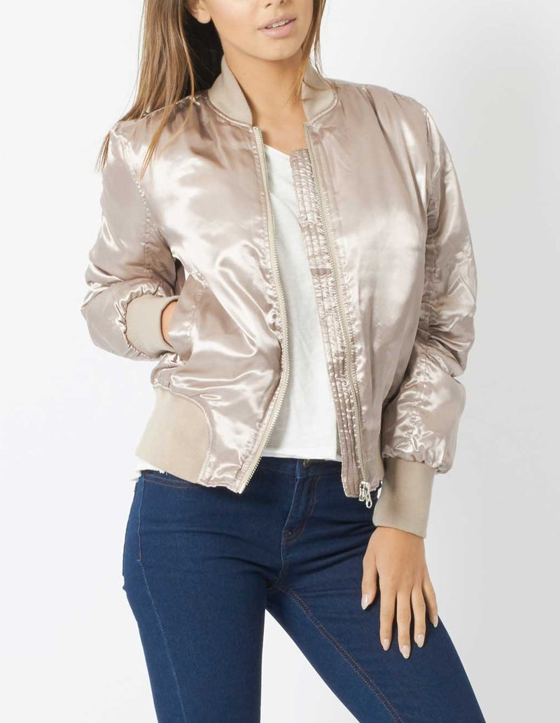 Doeskin Bomber Jacket