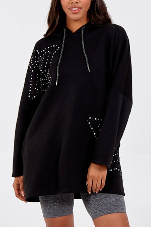 Heatseal Stud Star Placement Hoodie
