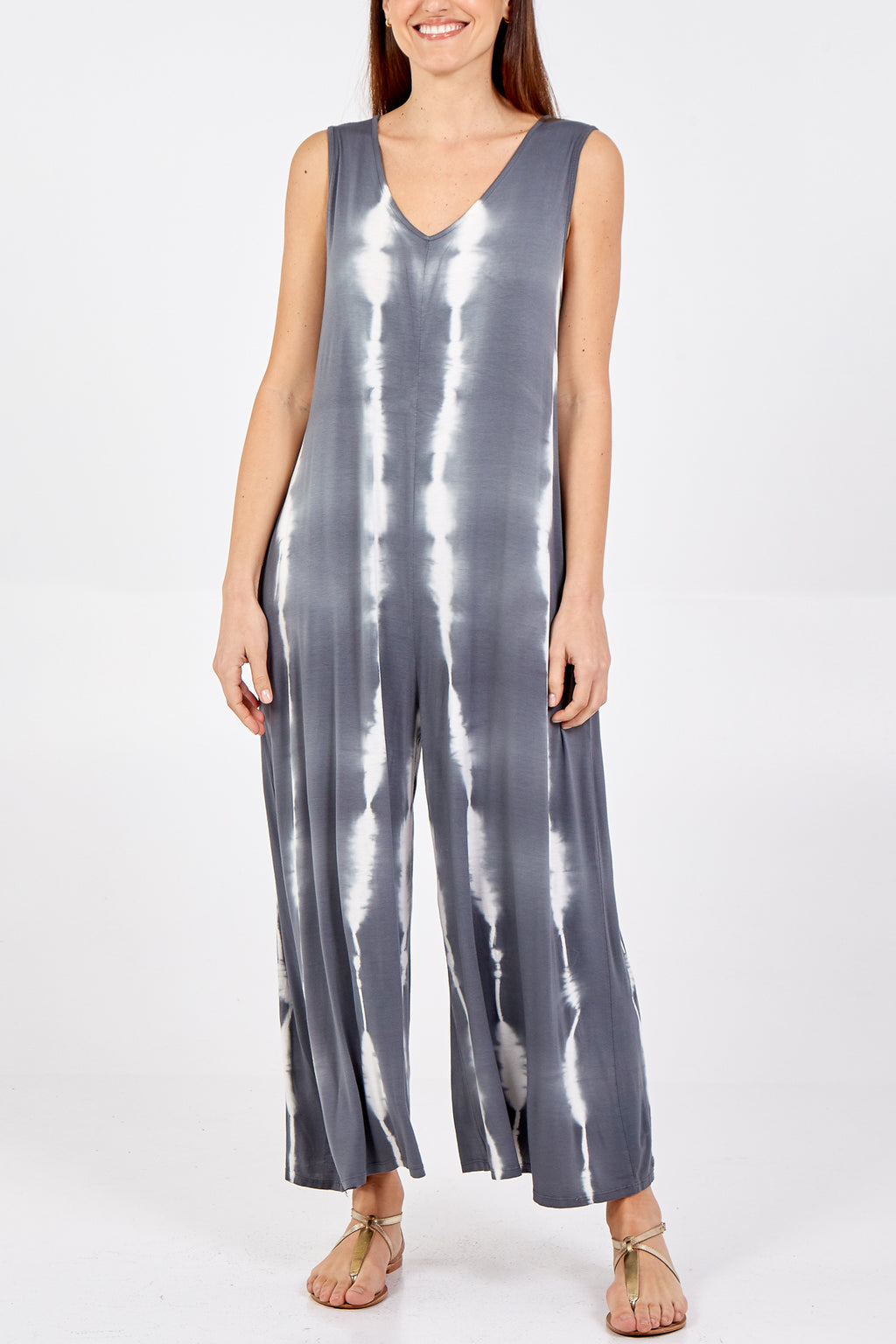 Tie Dye Sleeveless Jumpsuit