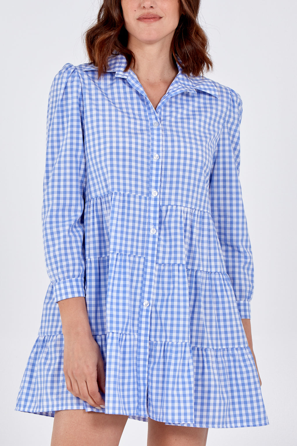 Gingham Tiered Dress