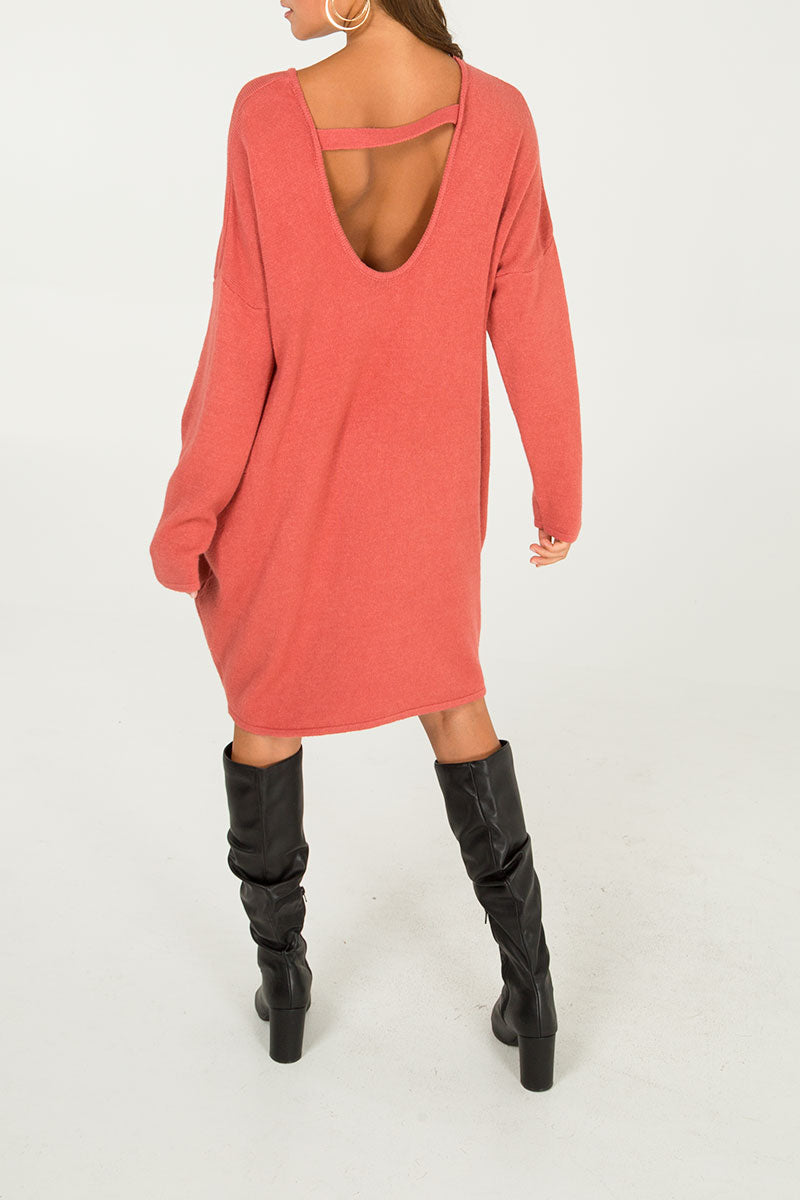 Scoop Back Jumper Dress