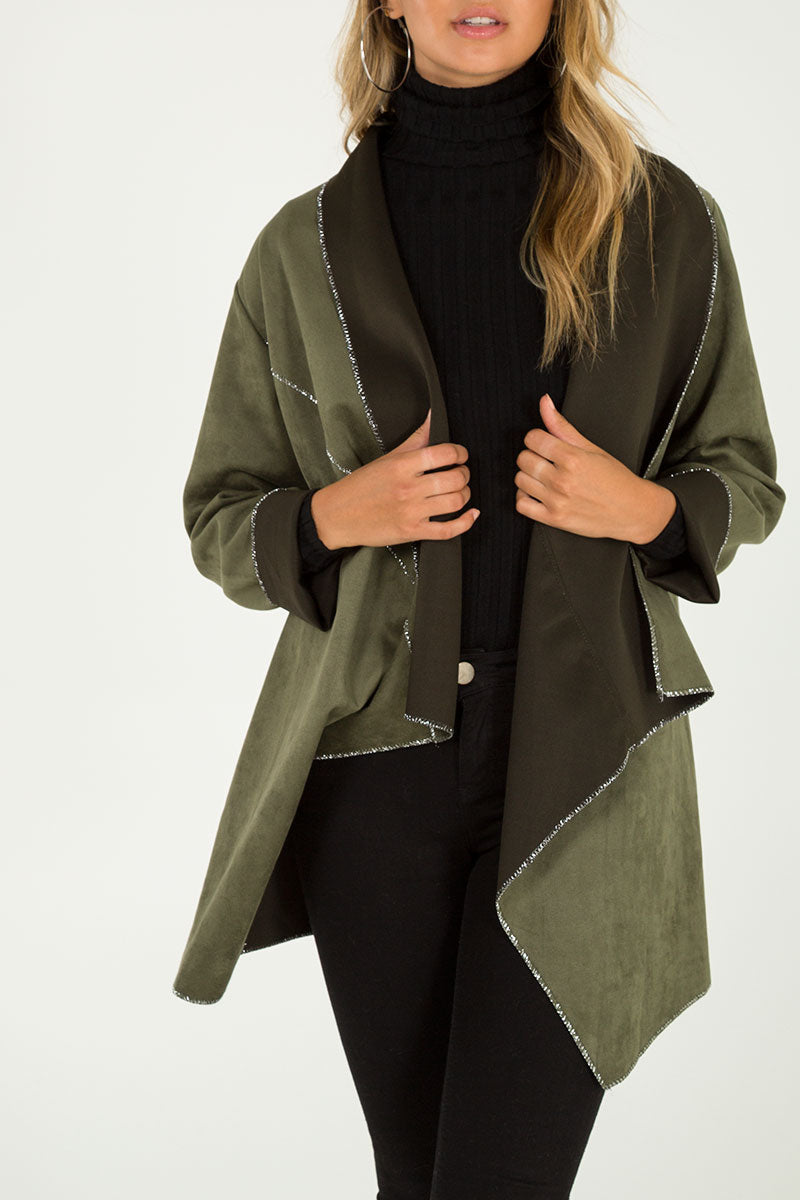 Suede Waterfall Jacket