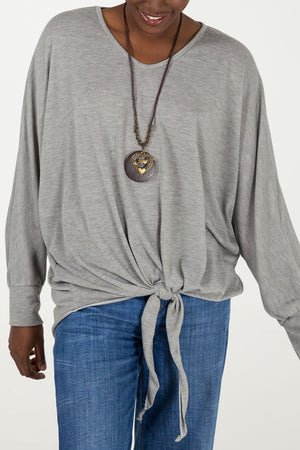 Knot Front Necklace Top