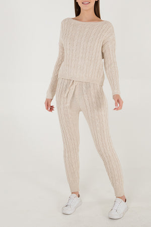 Cable Knit Two Piece Co-Ord