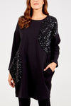 Sequin Detail Jumper Dress