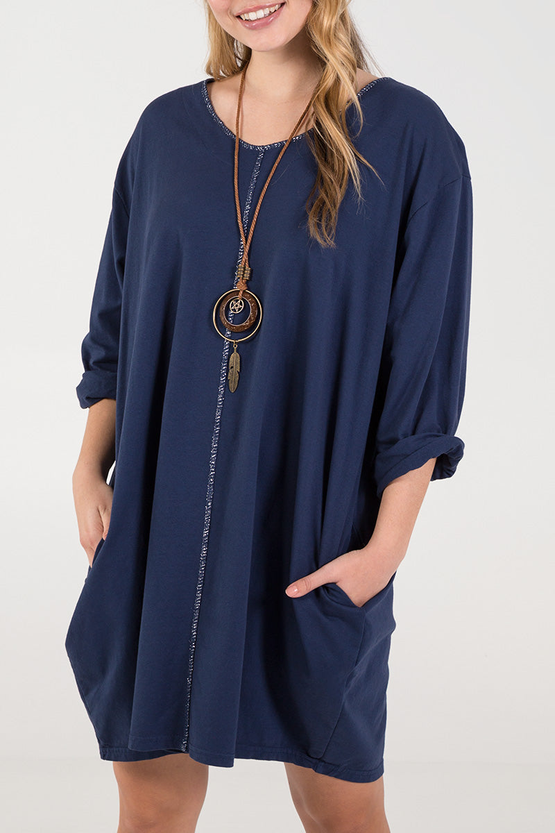 Necklace Long Sleeve Dress