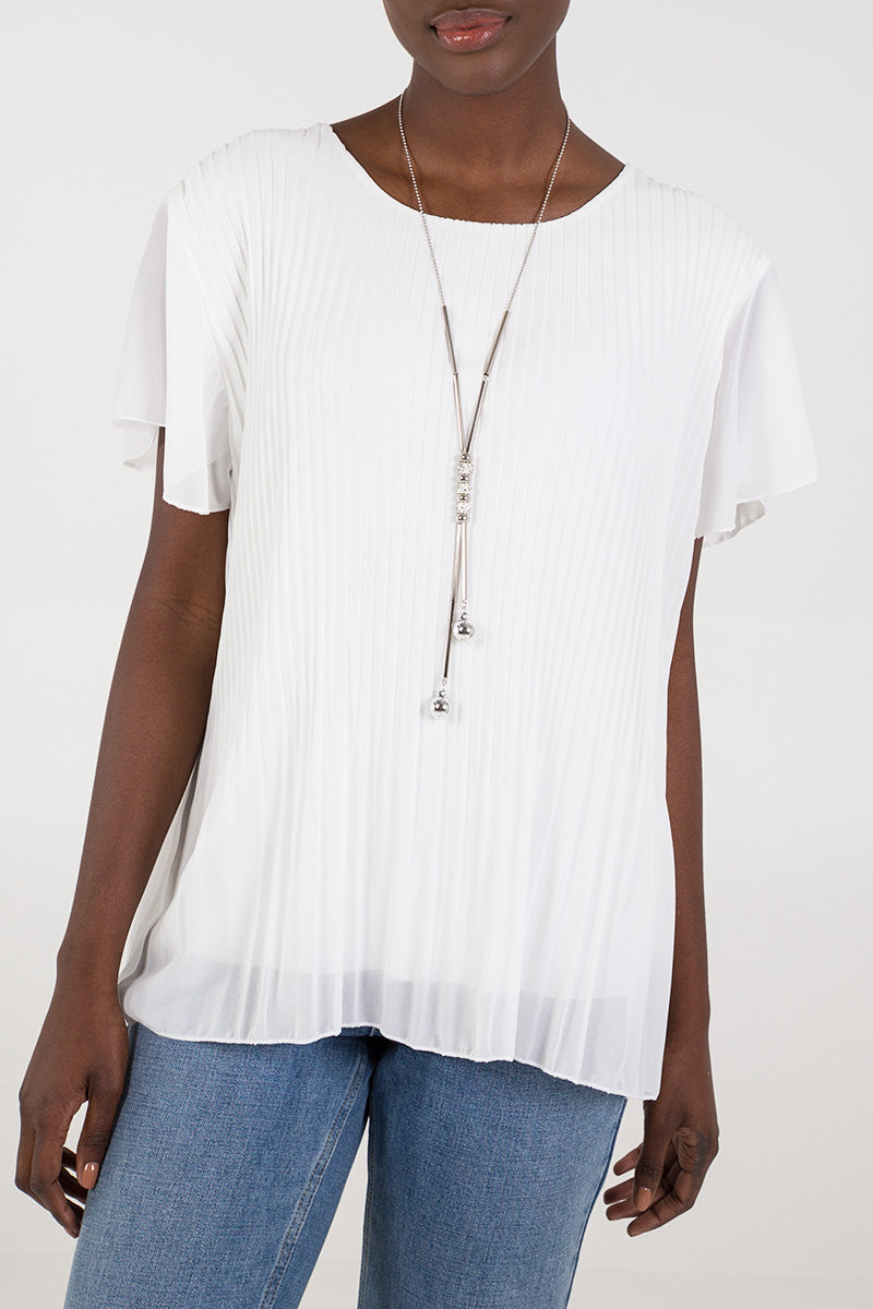 Necklace Pleated Top