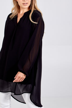 Plain Chiffon Lined Shirt