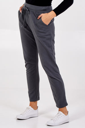 Plain Deep Waistband Jogging Trousers