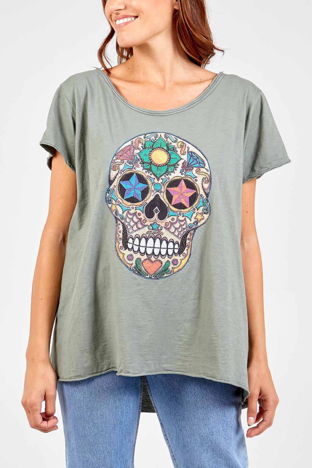 Sequin Skull Top
