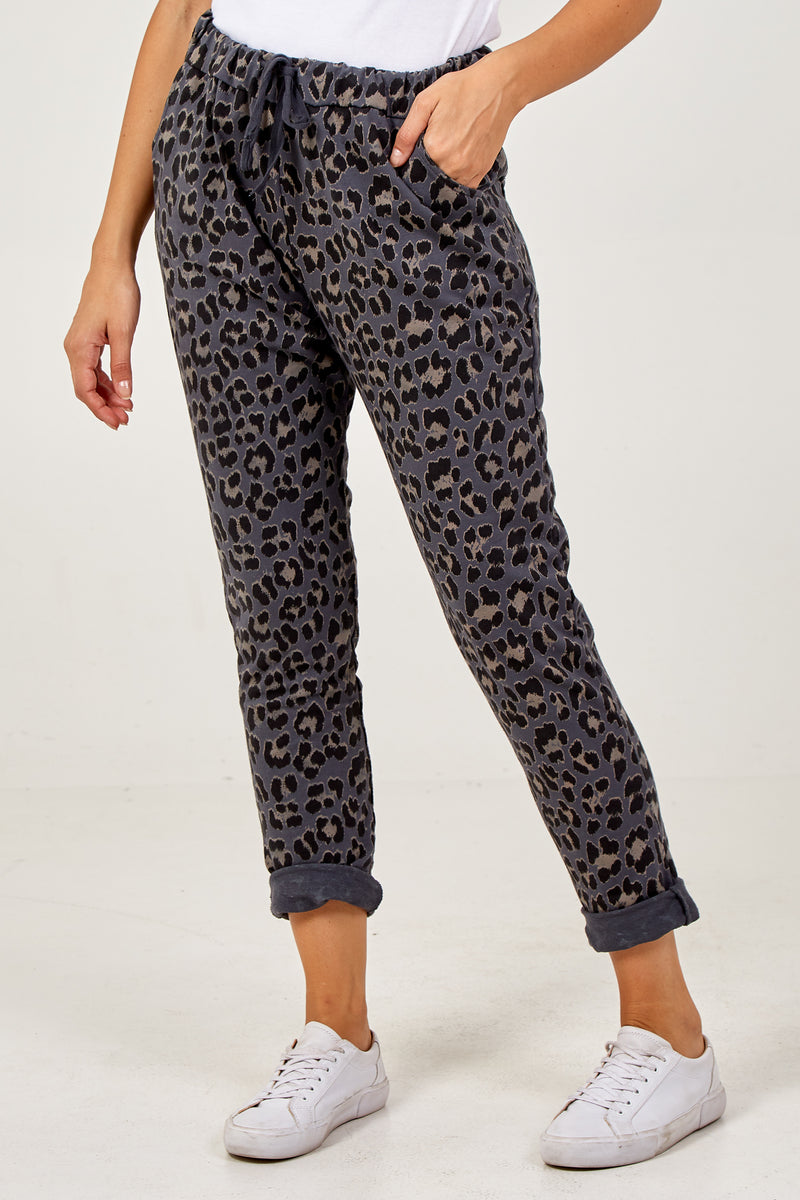 Four Pocket Leopard Print Jogger