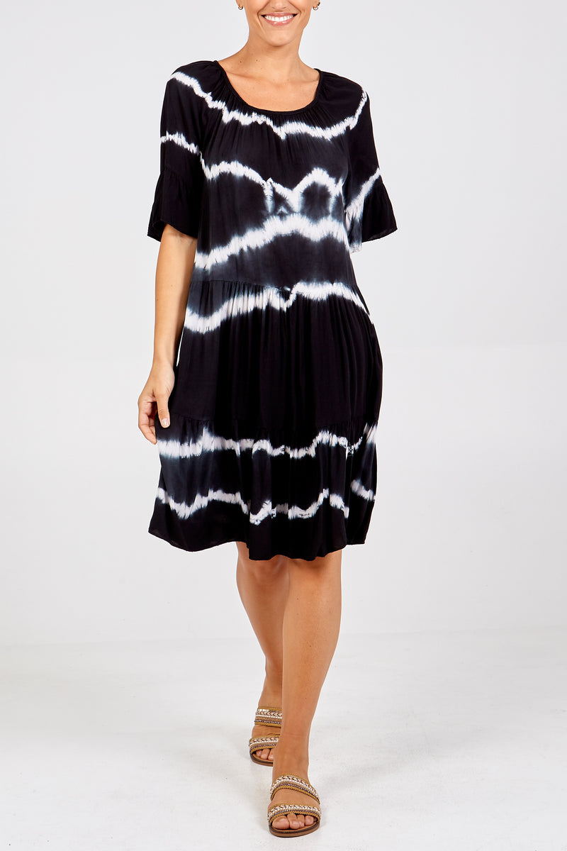 Tie Dye Viscose Dress