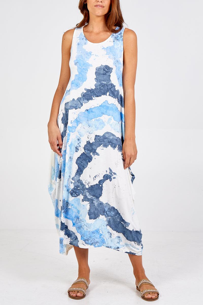 Cloud Tie-dye Parachute Dress