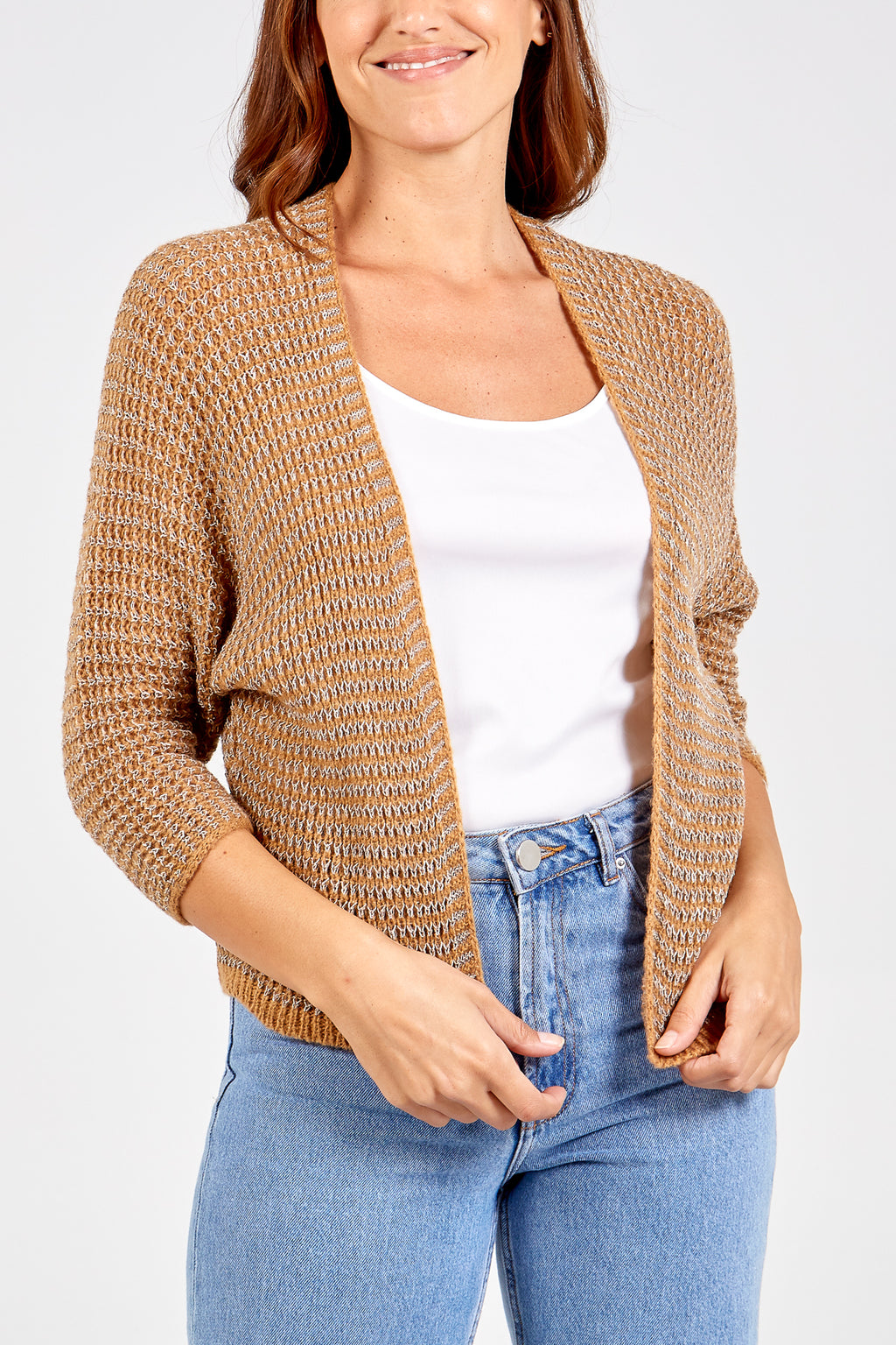 Metallic Thread Cardigan