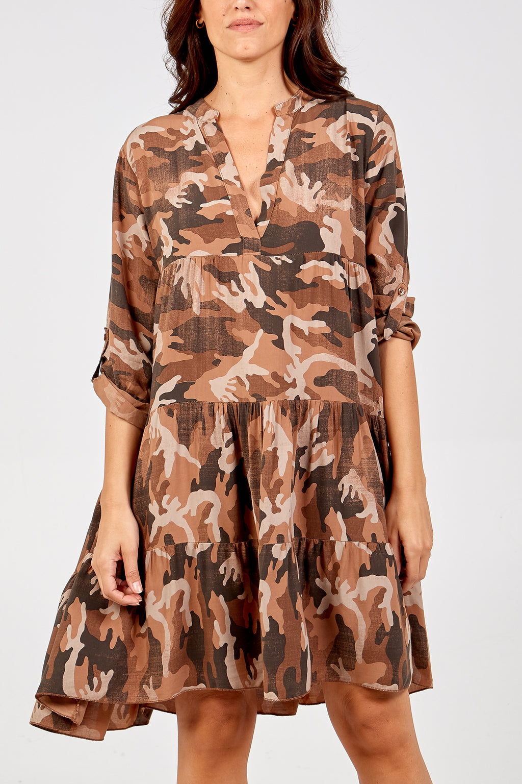 Camouflage Smock Dress