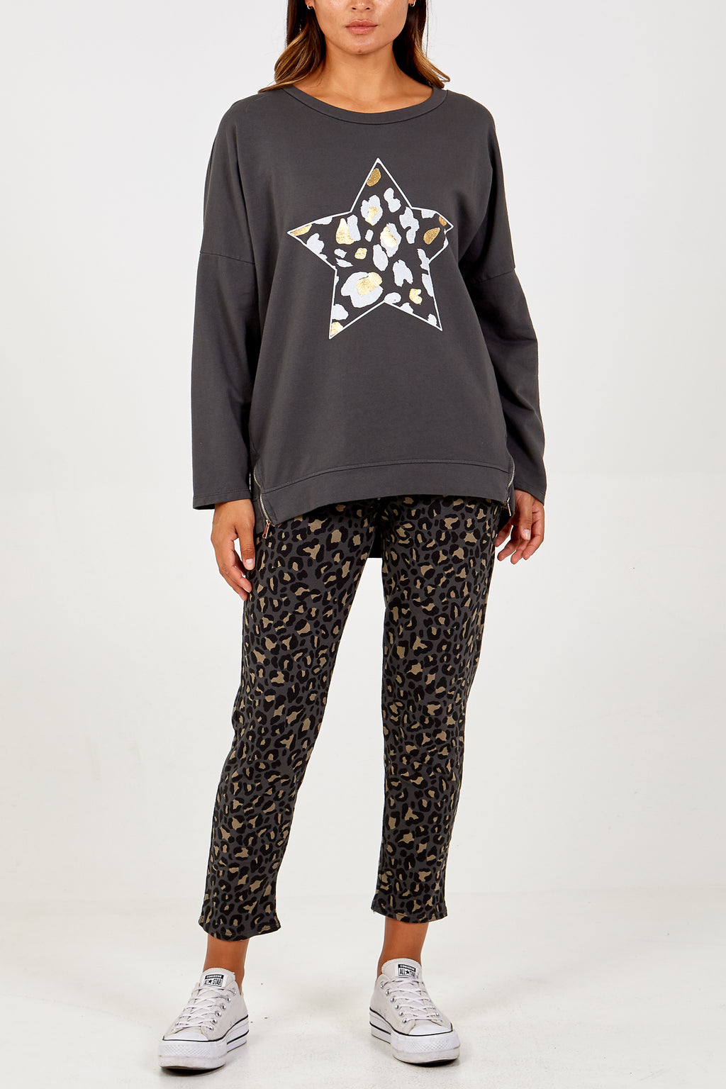 Leopard Star Jumper and Jogger Set