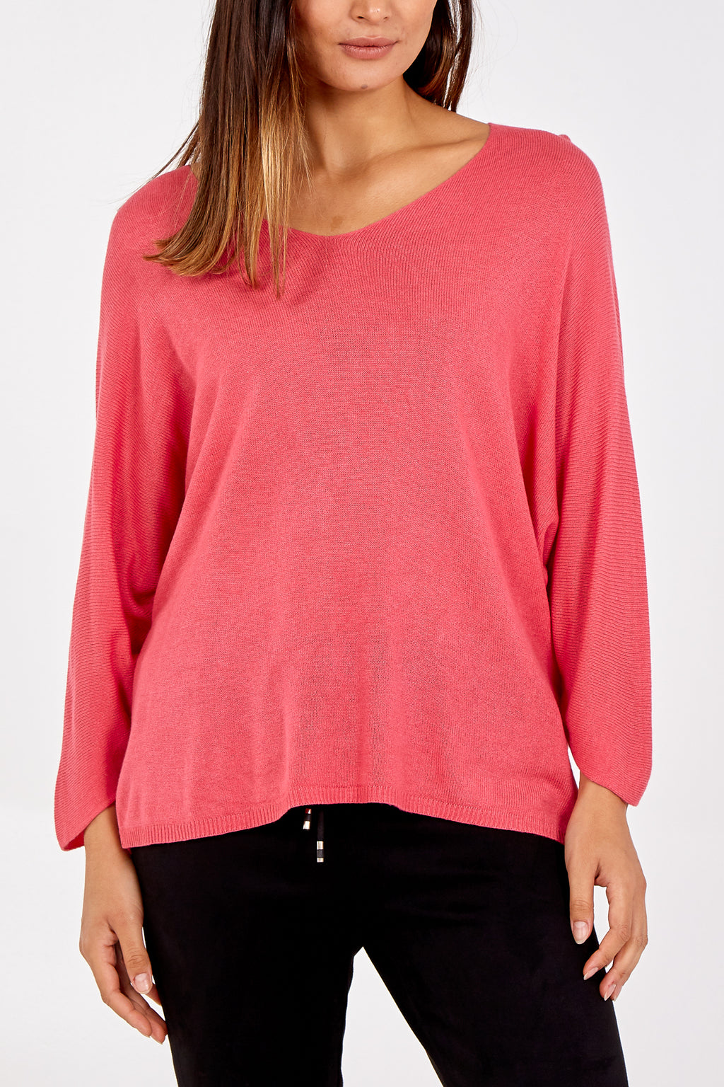 V-Neck Batwing Sleeve Jumper