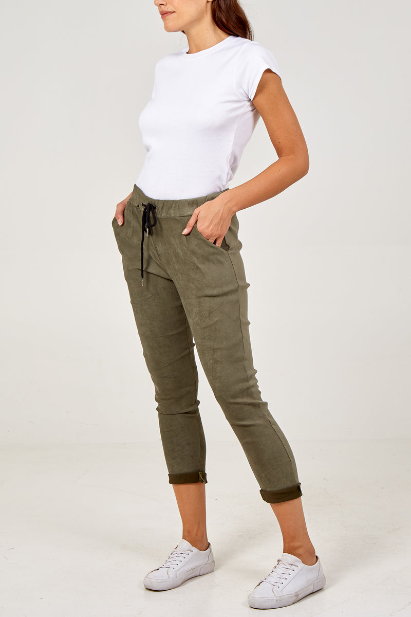Magic Suede Super Stretch Crushed Trousers