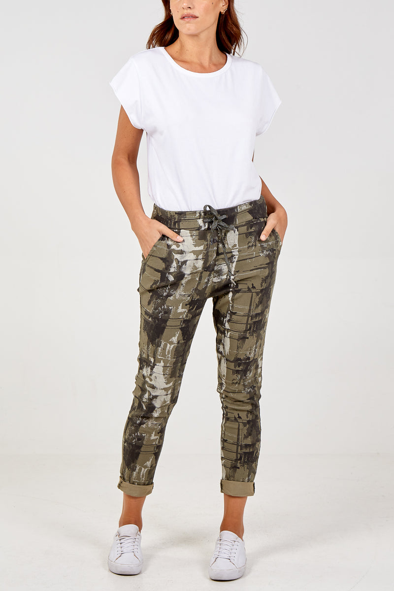 Magic Abstract Print Super Stretch Trousers