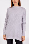 Mixed Rib Knit Jumper