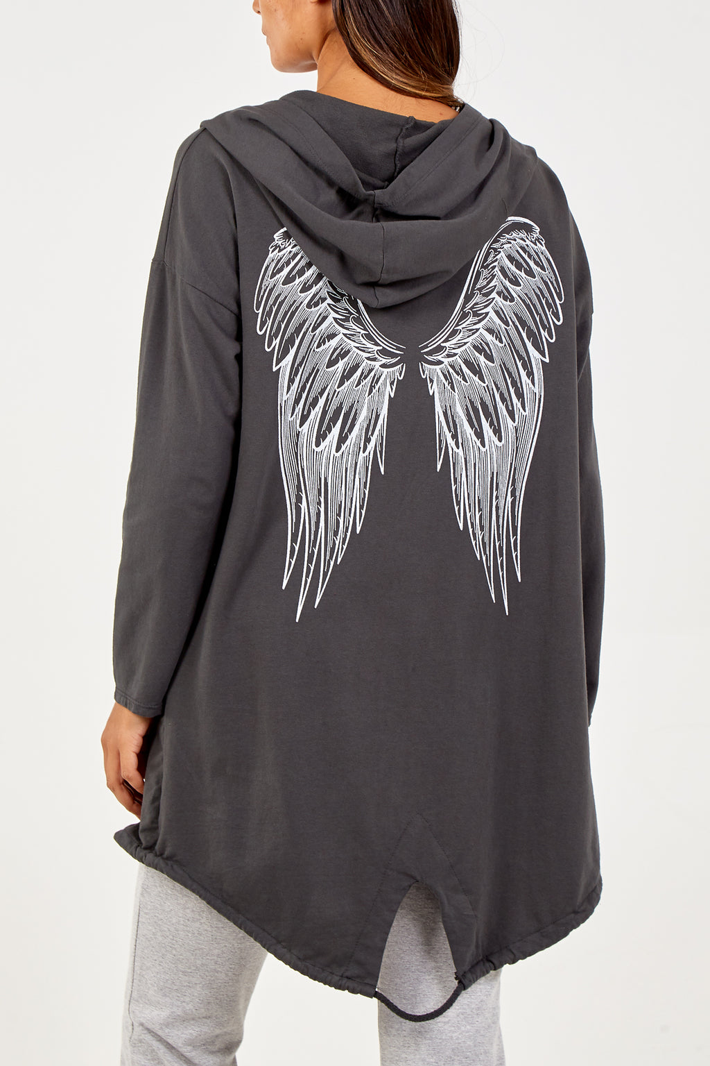 Angel Wing Hooded Cardigan