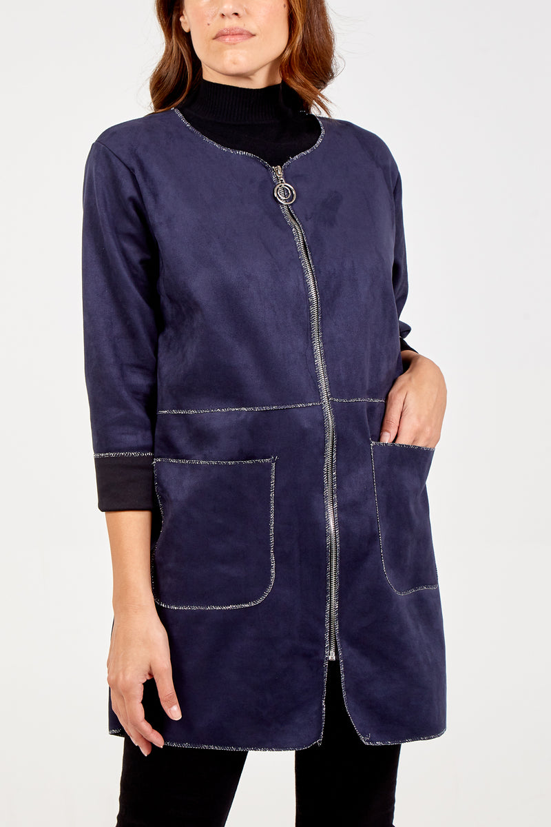 Two Pocket Front Zip Jacket