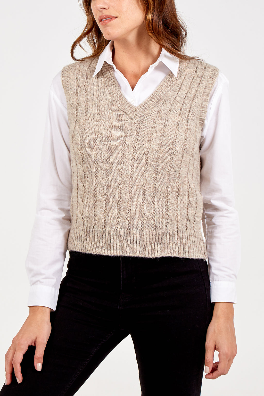 Sleeveless Sweater Vest