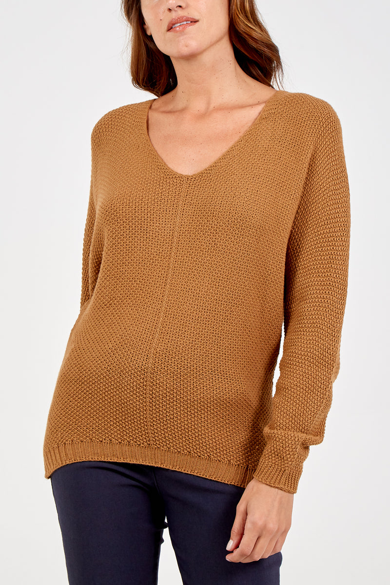 Long Sleeve V-Neck Jumper
