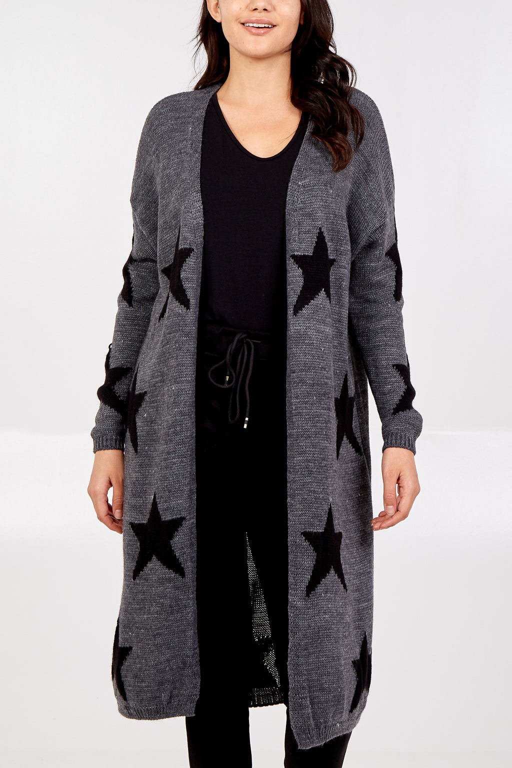 Edge To Edge Star Knitted Cardigan