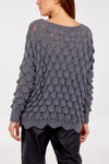 Teardrop Scallop Edge Knitted Jumper