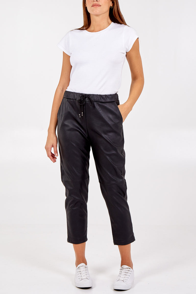 Faux Leather PU Trousers