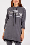 """Brooklyn"" Sweatshirt With Frill Trim"