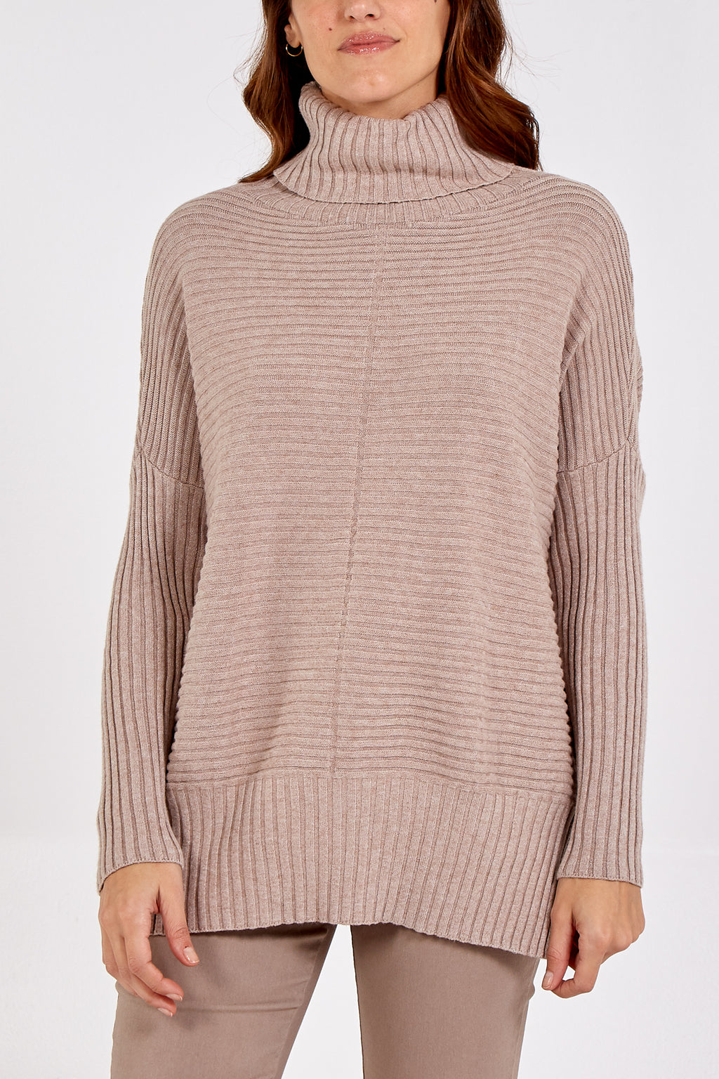Knitted Cowl Neck Jumper