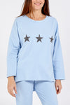 Glitter Stars High Low Sweatshirt & Jogger Lounge Set