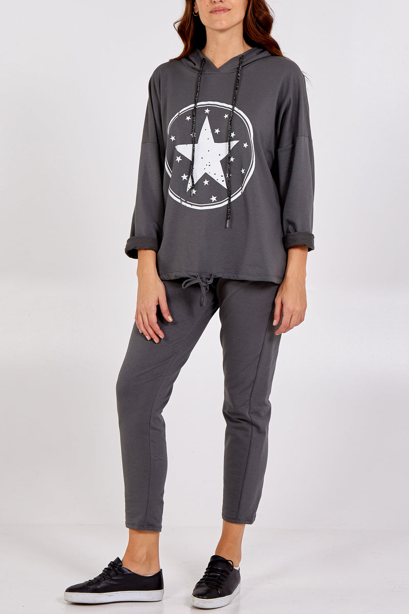 Circle Star Hoodie Loungewear Set