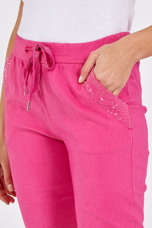 Sequin Pocket Magic Trousers
