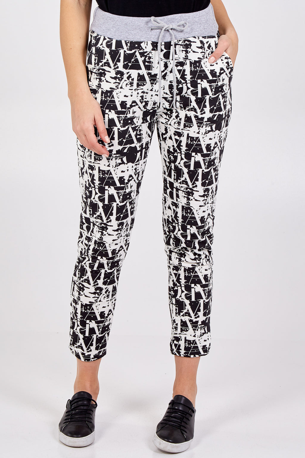 Letter Print Trousers