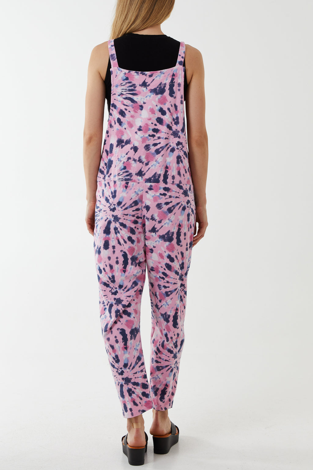 Flower Pattern Dungarees 3/4 Length