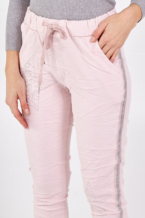 Beaded Star Magic Trousers With Glitter Side Panel