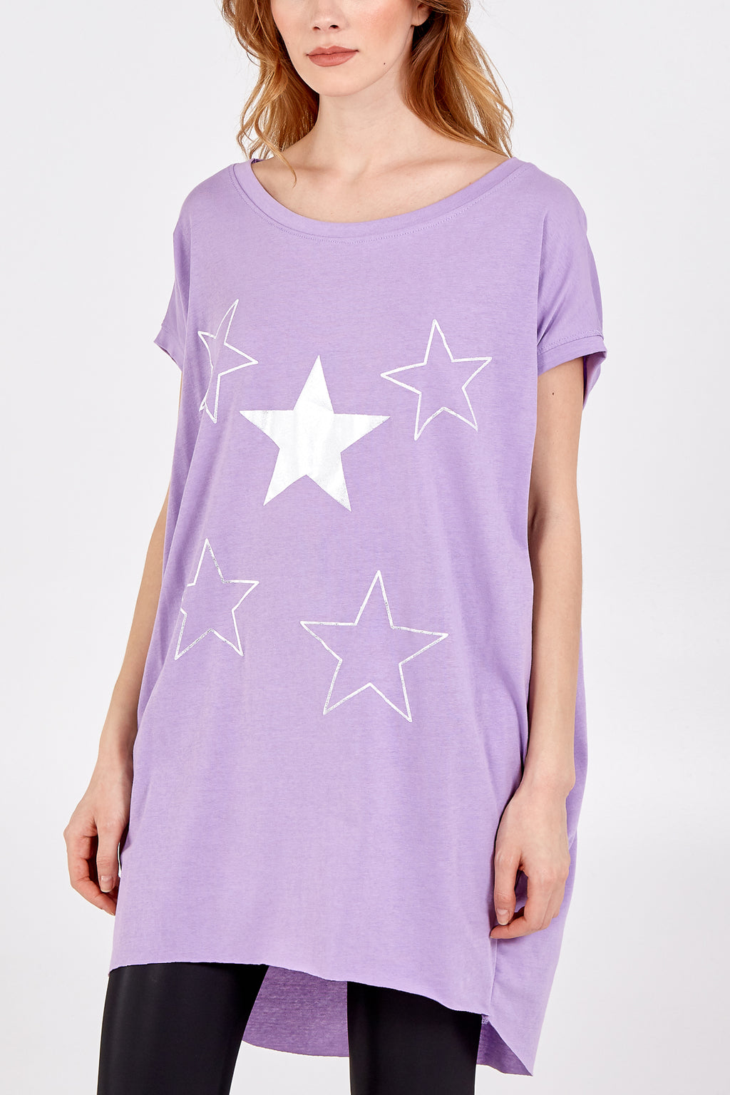 High Low Five Star Top