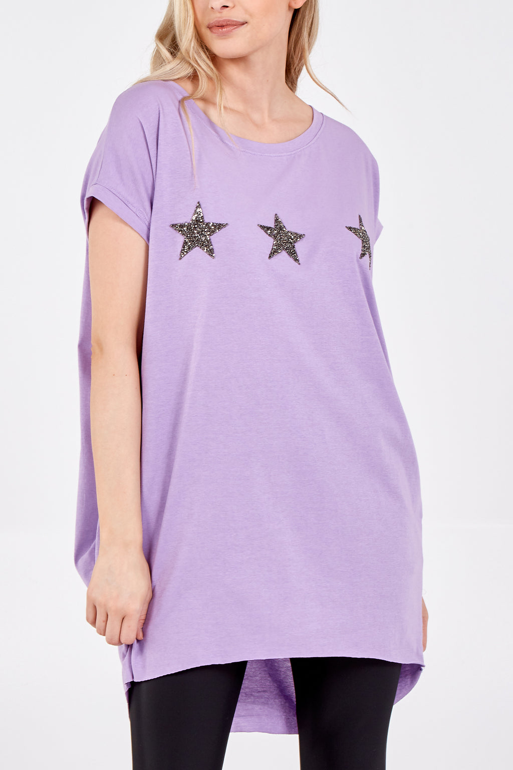 High Low Two Pocket Star Top