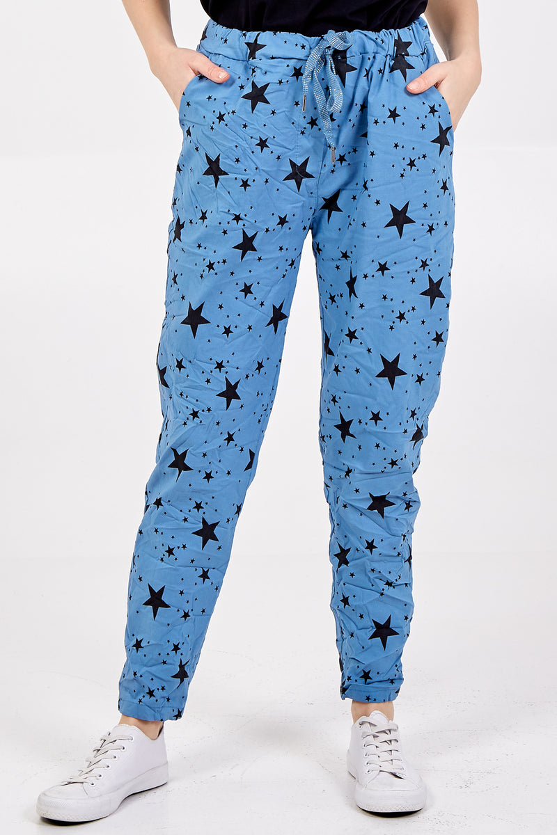 Star Print Trousers